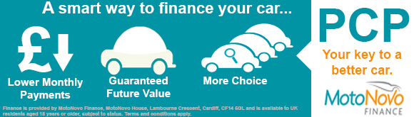 PCP Finance Available with MotoNovo Finance